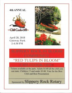 Slippery Rock in Bloom 4th Annual Chili Cook-off